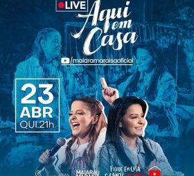 AO VIVO - assista agora a live com a dupla Maiara e Maraisa