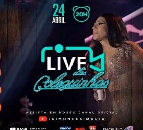 AO VIVO - assista agora a live show das coleguinhas Simone e Simaria