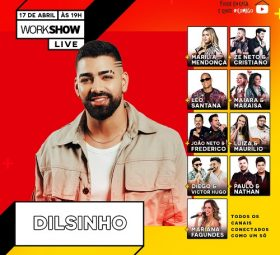 Assista agora a live com o cantor Dilsinho