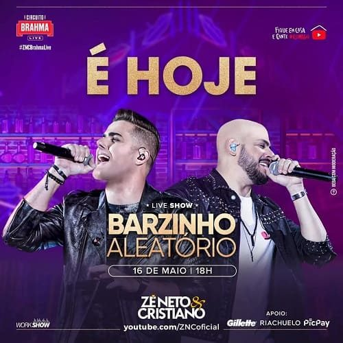 AO VIVO assista agora a live 2 com a dupla Zé Neto e Cristiano