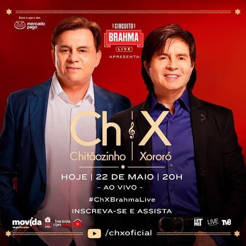 AO VIVO assista agora a live com a dupla Chitãozinho e Xororó, 22