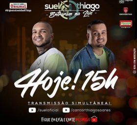 AO VIVO assista agora a live com o Suel e Thiago Soares, 02