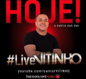 AO VIVO assista agora a live com o cantor Vitinho, 06
