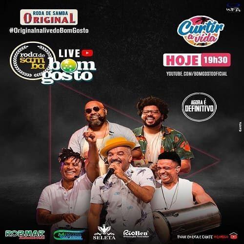 AO VIVO assista agora a live com o grupo Bom Gosto