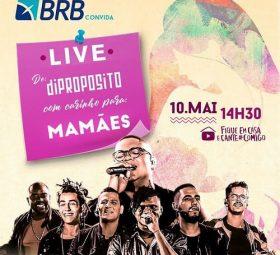 AO VIVO assista agora a live com o grupo Di Propósito,10