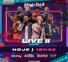 AO VIVO assista agora a live com o grupo Turma do Pagode
