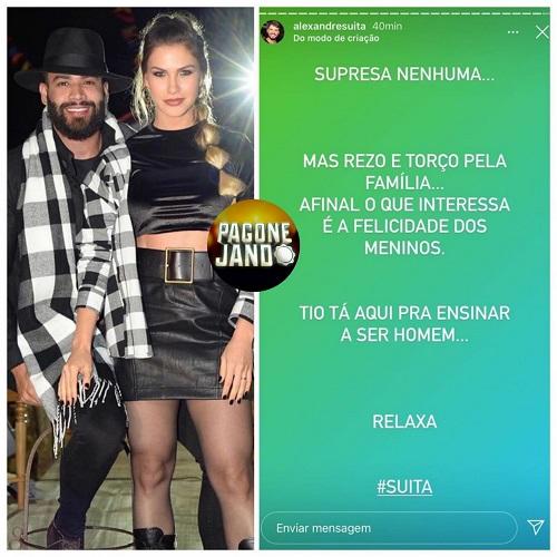 Irmão de Andressa Suita Detona O Embaixador após o cantor anunciar fim de casamento 'Ensinar a ser homem'
