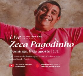 Zeca Pagodinho celebra Dia dos Pais com live especial no YT da Reserva